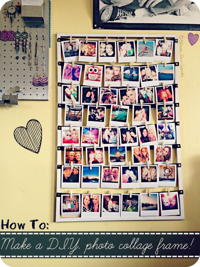 How To Make A D I Y Photo Collage Frame Framed Photo Collage