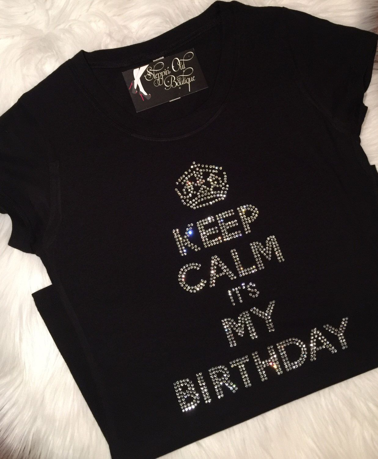 868454c8 Excited to share this item from my #etsy shop: Birthday Girl Shirt, Womens  Birthday Shirt, Womens Rhinestone Birthday Shirt, Ladies Birthday Shirt, ...