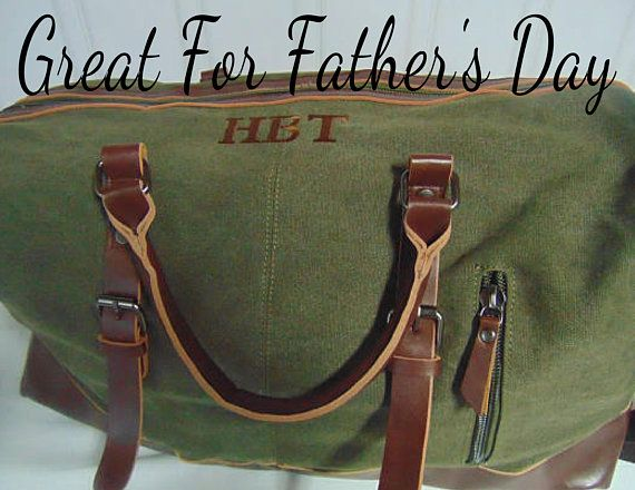 dc2277b548 Men s Monogrammed Duffle Bags-Weekender Travel Bags in Canvas and Leather- Personalized  Bags for Father s Day or Graduation