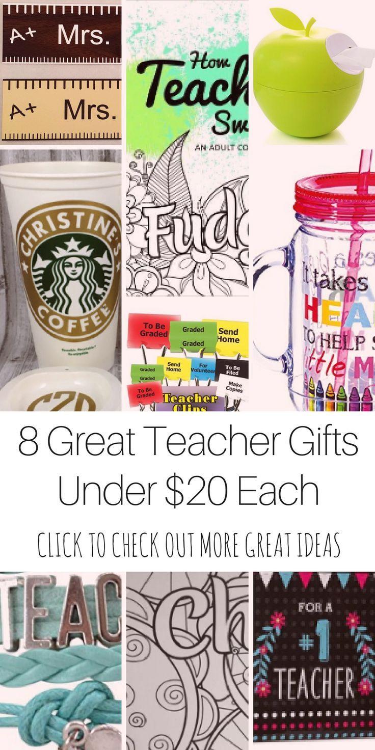 8 Great Teacher Gift Ideas Under $20 Each in 2018 | gifts ...
