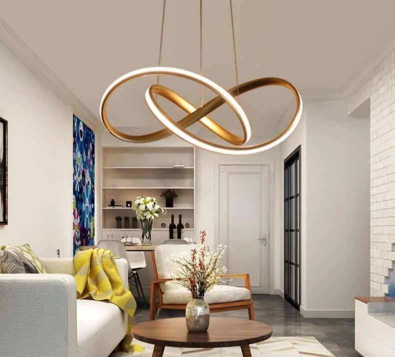 Modern Infinity Led Pendant Light In 2020 Living Room Lighting Lamps Living Room Living Dining Room