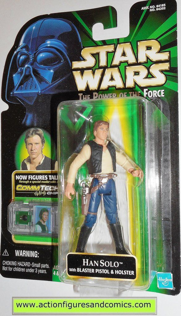 Star Wars Action Figures Han Solo Commtech Large Bubble Variant