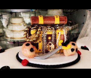 Biscuit de Coração: Bolo / Topo De Bolo Pirata