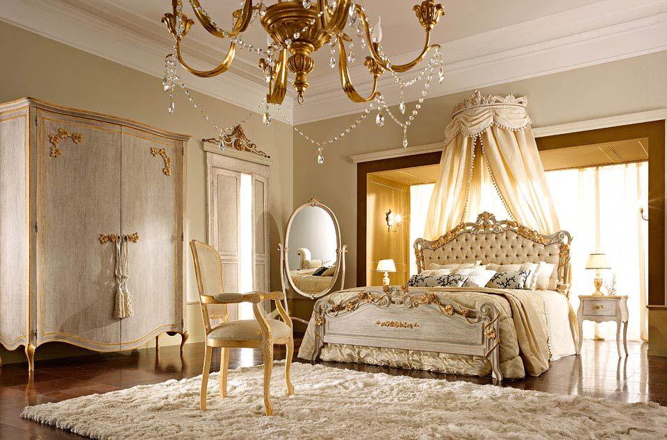 Camera da letto classica e di lusso in stile veneziano e fiorentino andrea fanfani casa - Camere da letto stile country ...