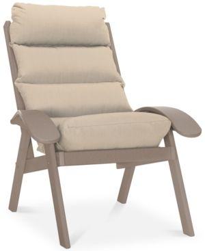 Coastal Outdoor Cushion Chair, Quick Ship - Tan/Beige