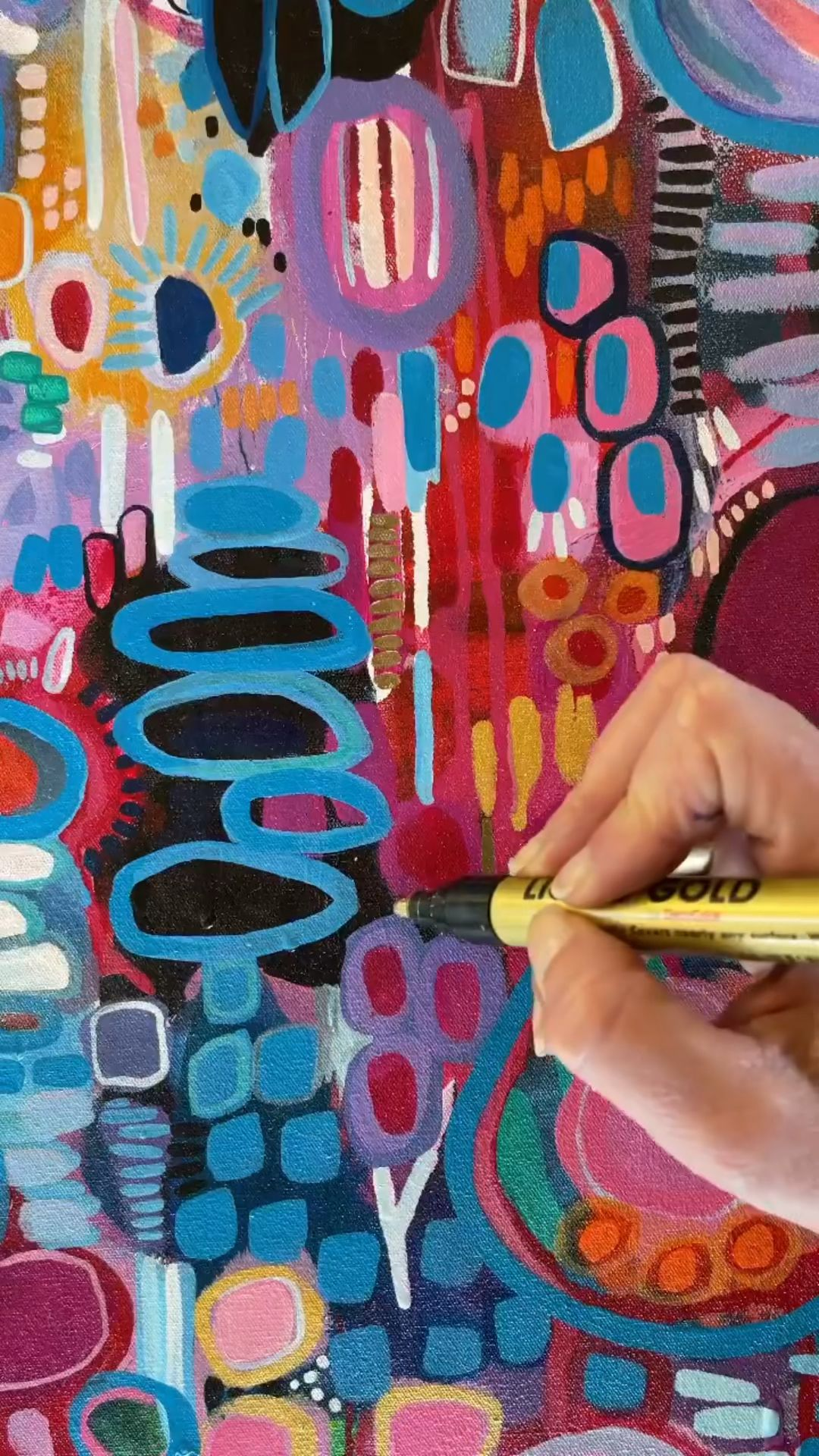 Paint Pens - Great for adding details to your abstract painting!