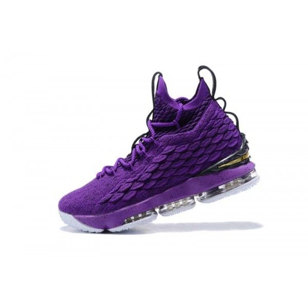 best website 01386 55446 Nike LeBron 15 Basketball Shoe Mens Purple Black