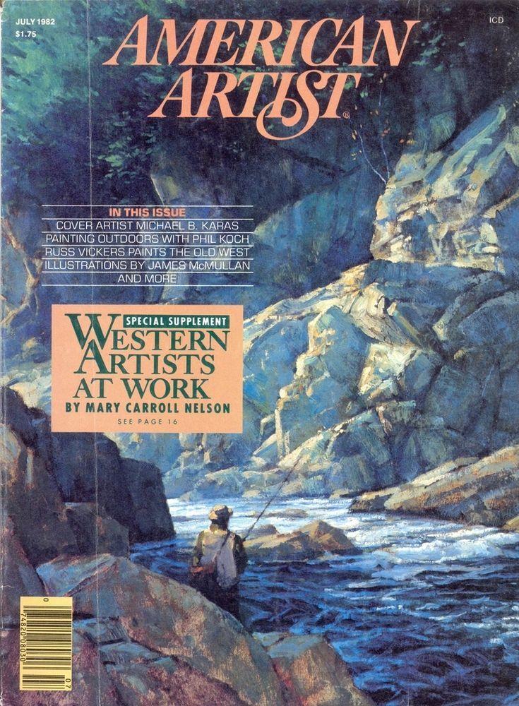 American artist magazine july 1982 western artists at