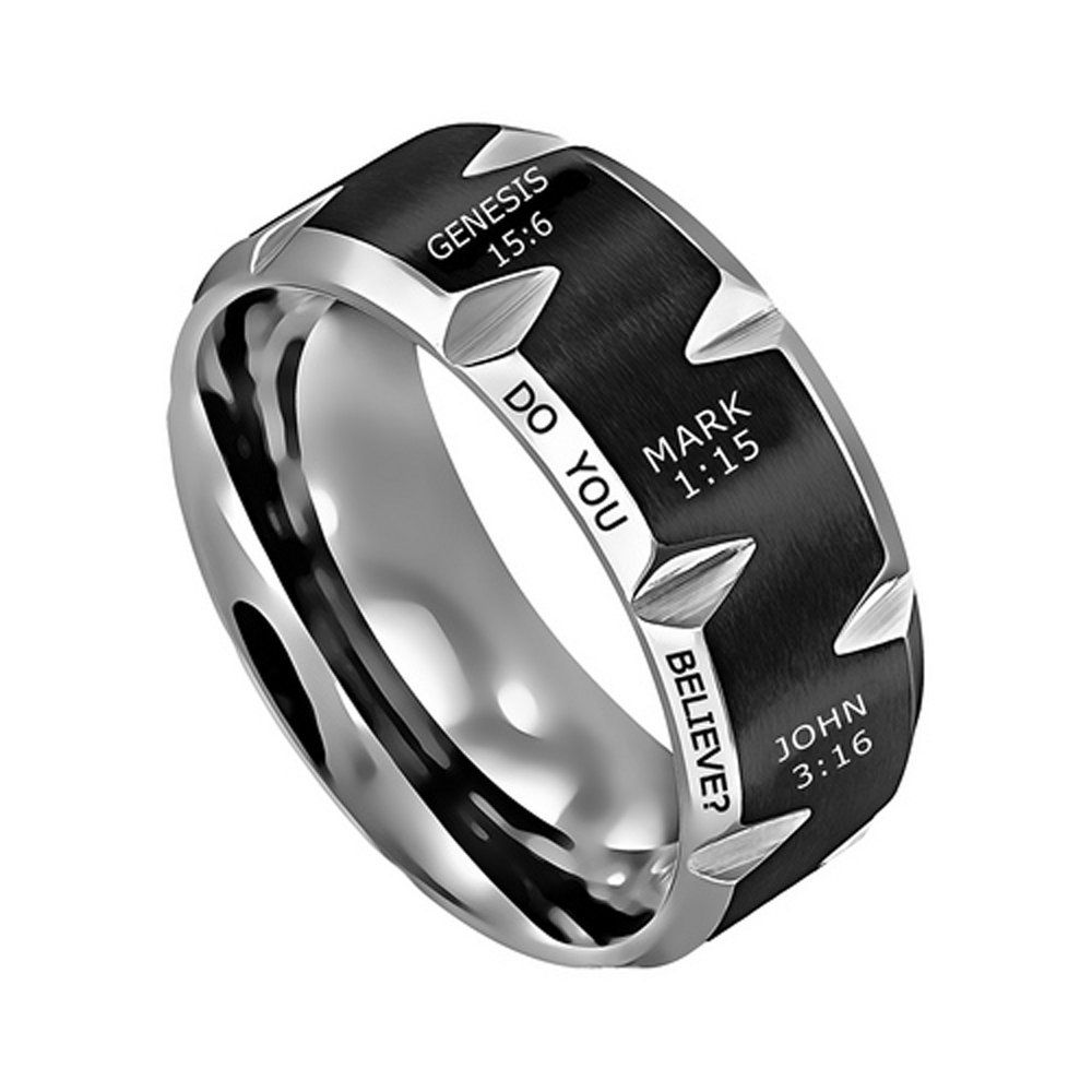 7b130a18ab6c0 Do You Believe? Movie Series Men's Stainless Steel Ring Sizes 10-12 ...