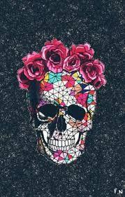 Resultado De Imagen Para Dibujo Craneo Y Corona De Flores