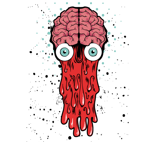 9696ae88a77a6 Bad Brain – Vector T-shirt Design in 2019 | Free Vectors | Drawings ...