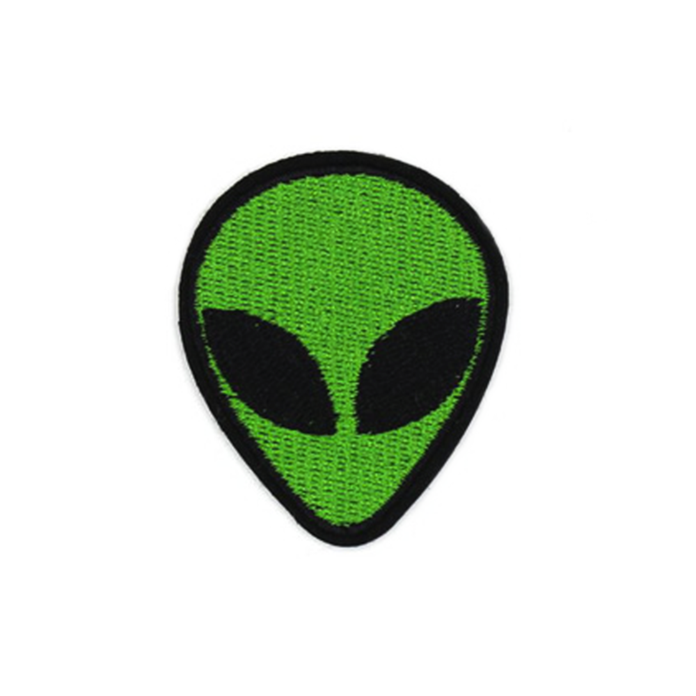Alien Head Patch Embroidered Patches Patches Alien Patch