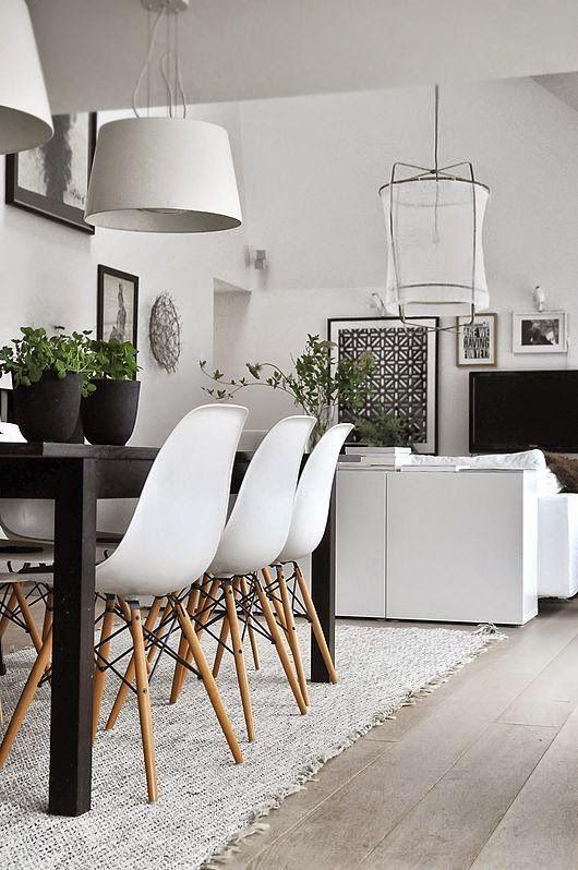 15 comedores decorados en blanco y negro | Ideas for home ...