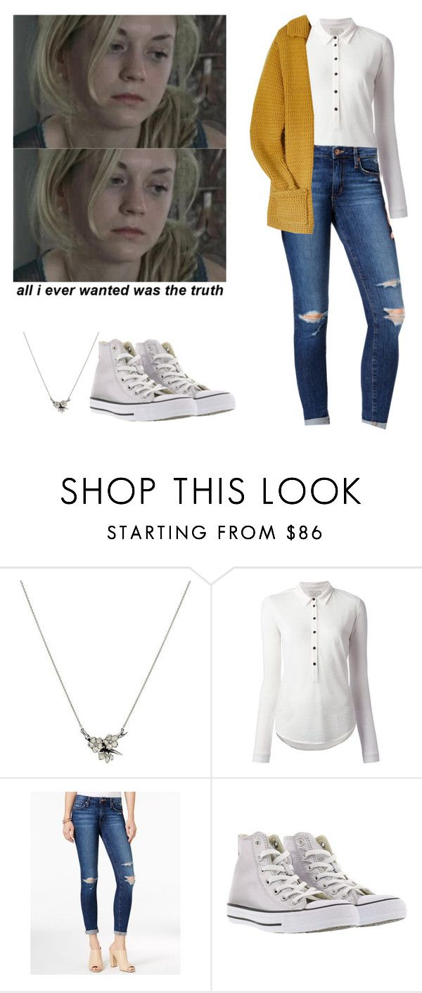 """""""Beth Greene outfit for chilly weather - twd / the walkig dead"""" by shadyannon ❤ liked on Polyvore featuring Shaun Leane, Forte Forte, Joe's Jeans and Converse"""