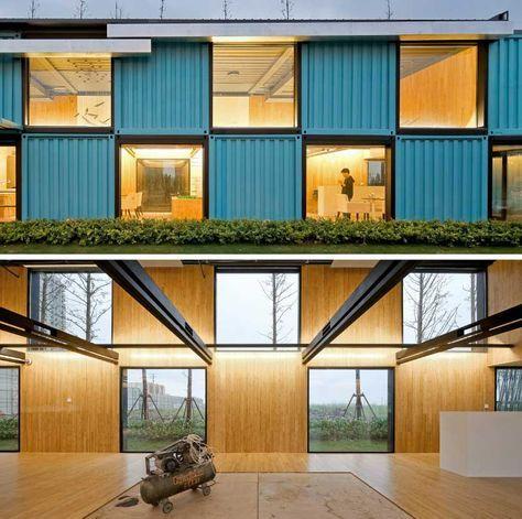 ein verkaufsb ro von schiffscontainern gebautcontainer haus container haus container. Black Bedroom Furniture Sets. Home Design Ideas