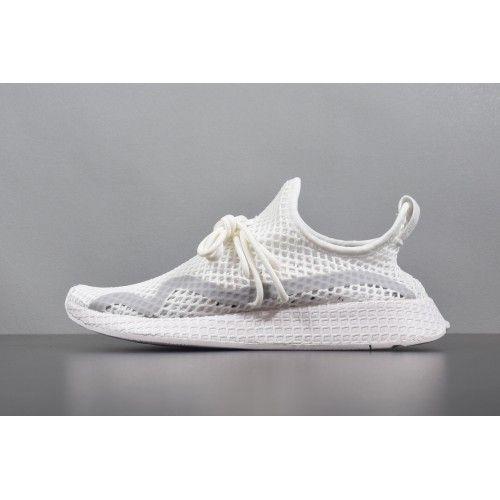 Vente en ligne Unisexe Adidas Deerupt Runner Blanc Gris ...