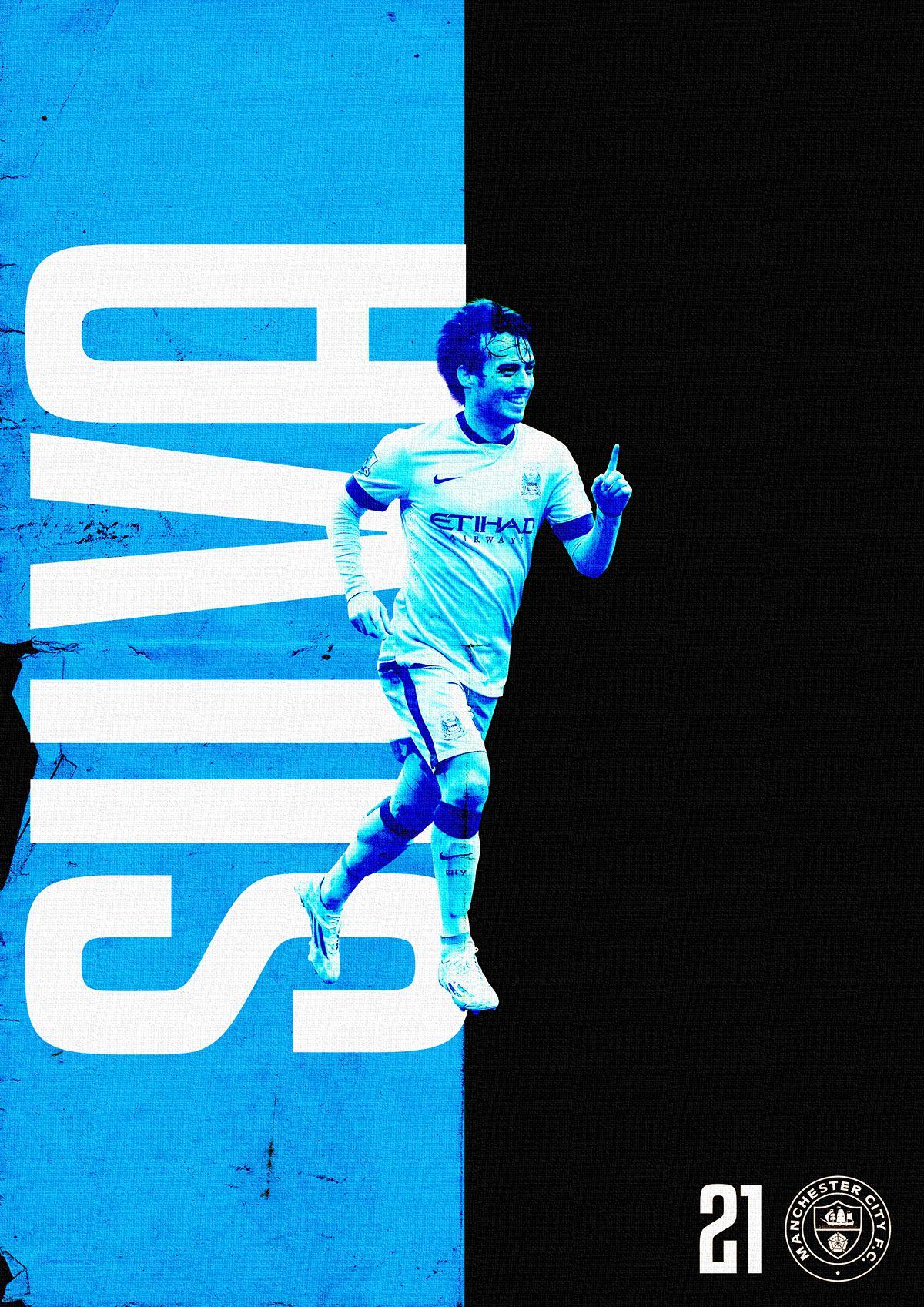 David Silva Manchester City poster via Behance