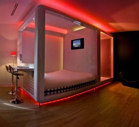 5341 - Idée de chambre pour ados avec lumière rouge | kids ...