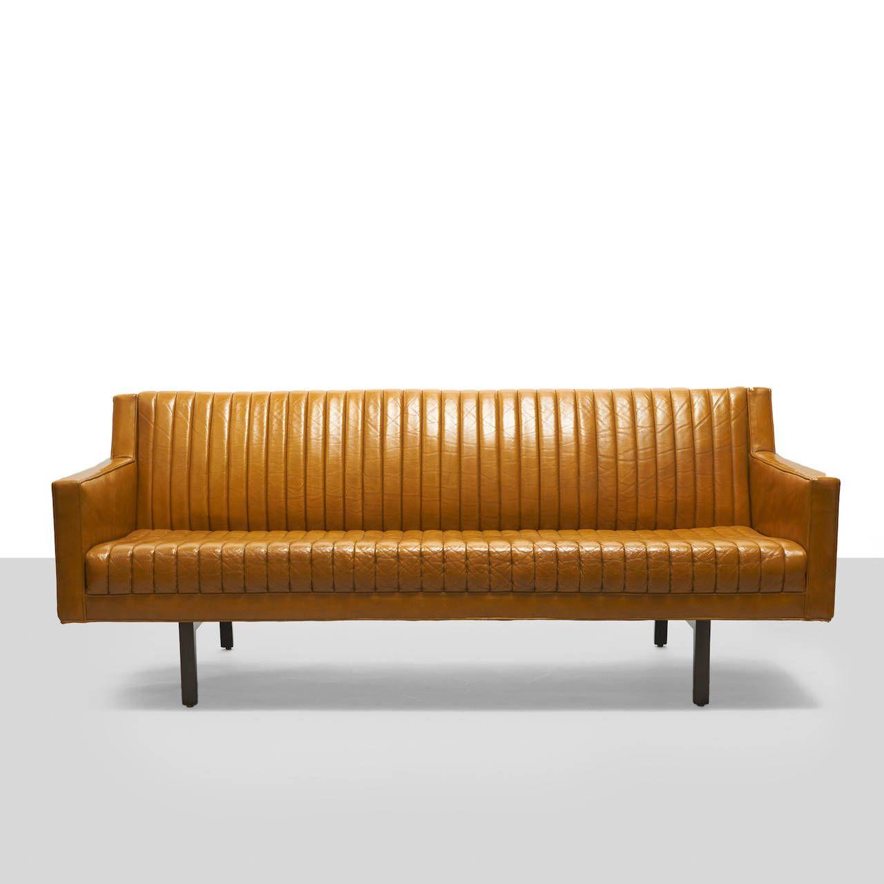 Edward Wormley Channel Back Sofa 1stdibs Com Vintage Furniture