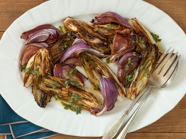 Roasted Endive and Red Onions with Sage Vinaigrette | Whole Foods Recipe   http://www.wholefoodsmarket.com/recipe/4686