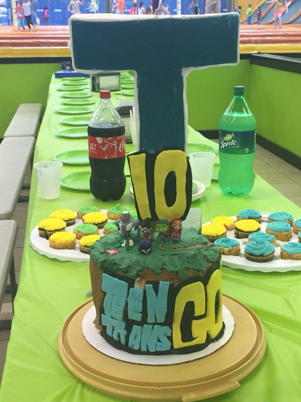 Teen Titans Go Tower Birthday Cake  Boys Birthday Party -5995