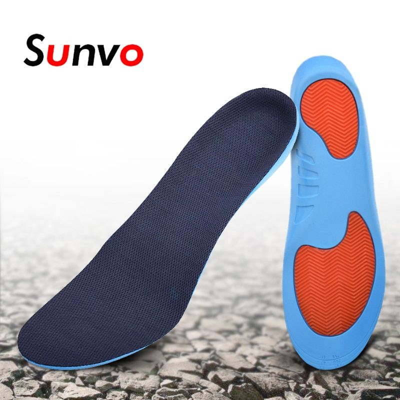 bf662f9f42 Sunvo Arch Support Sports Orthotic Shoe Pad Soft Gel Shock Absorption  Deodorant Insoles Pain Relief Insert