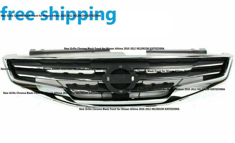 New Grille Chrome Black Front For Nissan Altima 2010 2012 Ni1200236 62070zx00a Keystoneautomotiveoperations Nissan Altima Nissan Altima