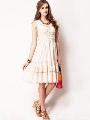 6c847536452 KOOVS Lace Insert Midi Dress