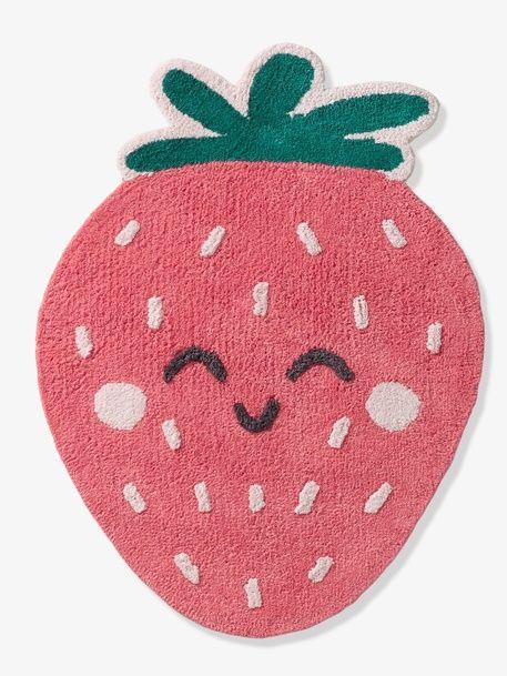 Kinderteppich 'Erdbeere', rutschfest erdbeer/grün 1
