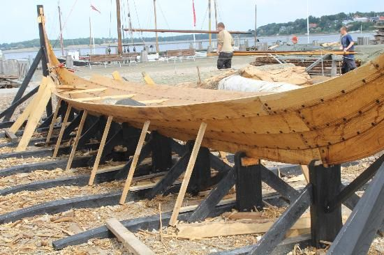 Building a boat using Viking methods