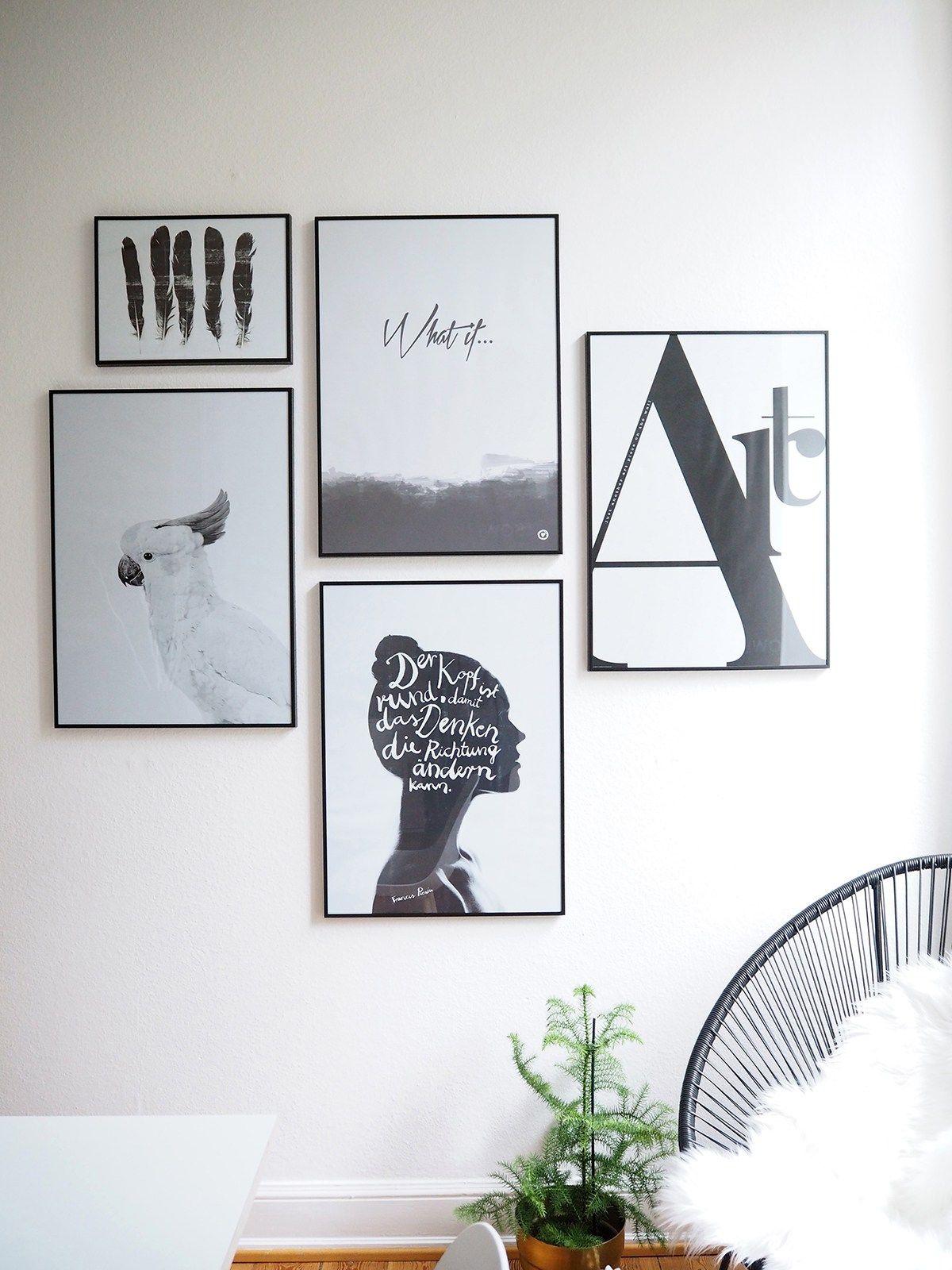 how to create a gallery wall - plane deine bilderwand | wände, Wohnzimmer dekoo