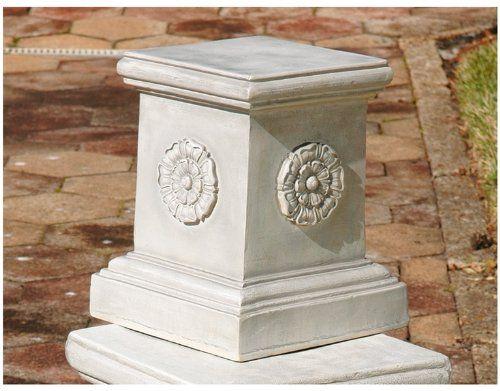 Design Toscano CL5194 English Rosette Garden Sculptural Plinth - Large Design Toscano http://www.amazon.com/dp/B004AB2UBM/ref=cm_sw_r_pi_dp_yk.wub0N4Y84P