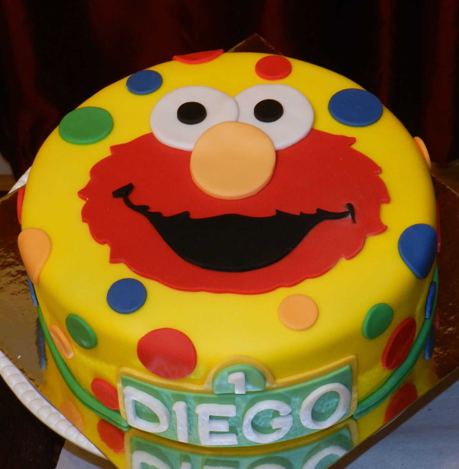 Edible Elmo Cake Topper By Sweetcreationsbygigi On Etsy