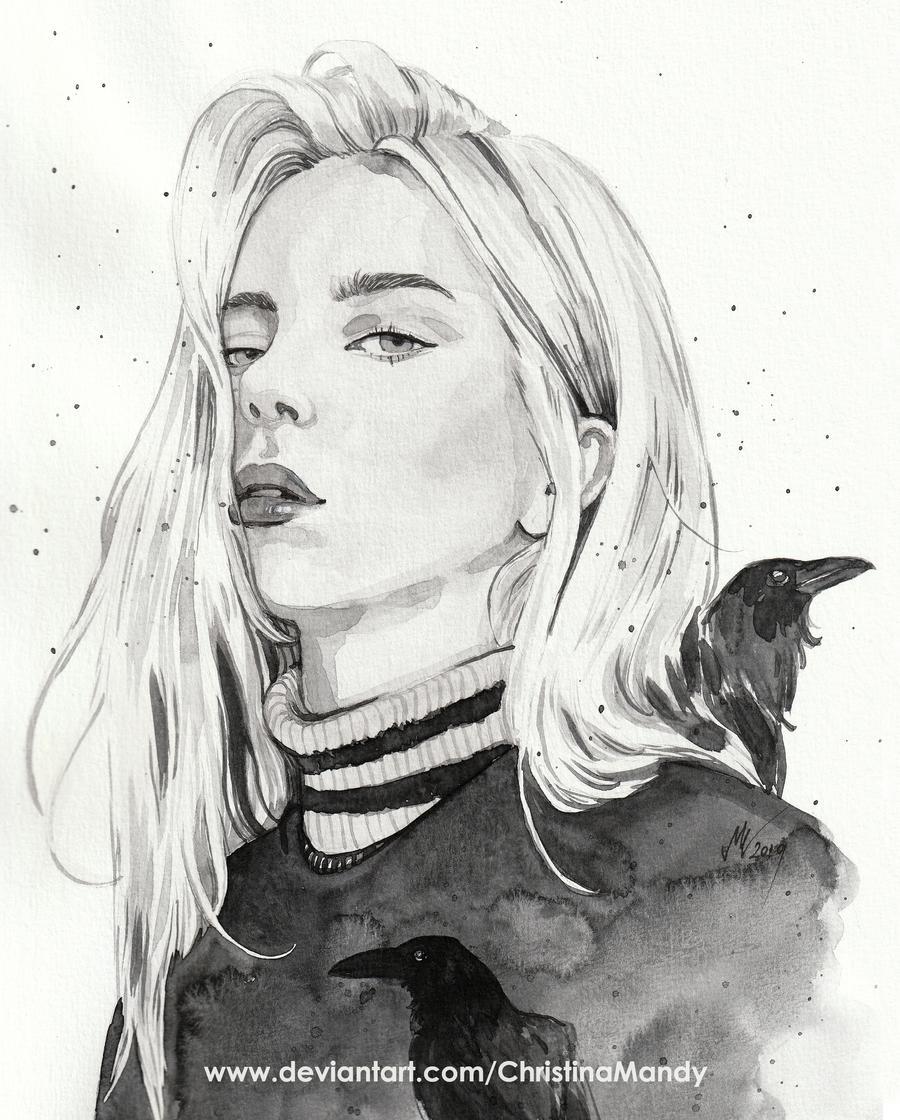 Billie Eilish By Christinamandy On Deviantart Art Sketches Billie Eilish Art