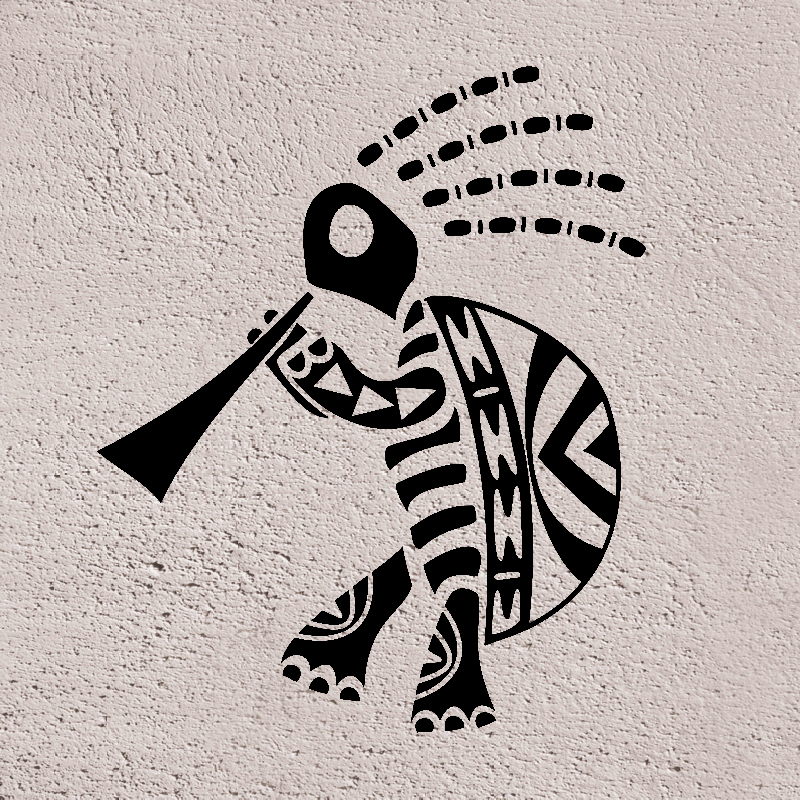 Kokopelli Is A Fertility Deity Also He Is A Trickster God And Represents The Spirit Of Music Tribal Turtle Tattoos Turtle Tattoo Designs Turtle Tattoo