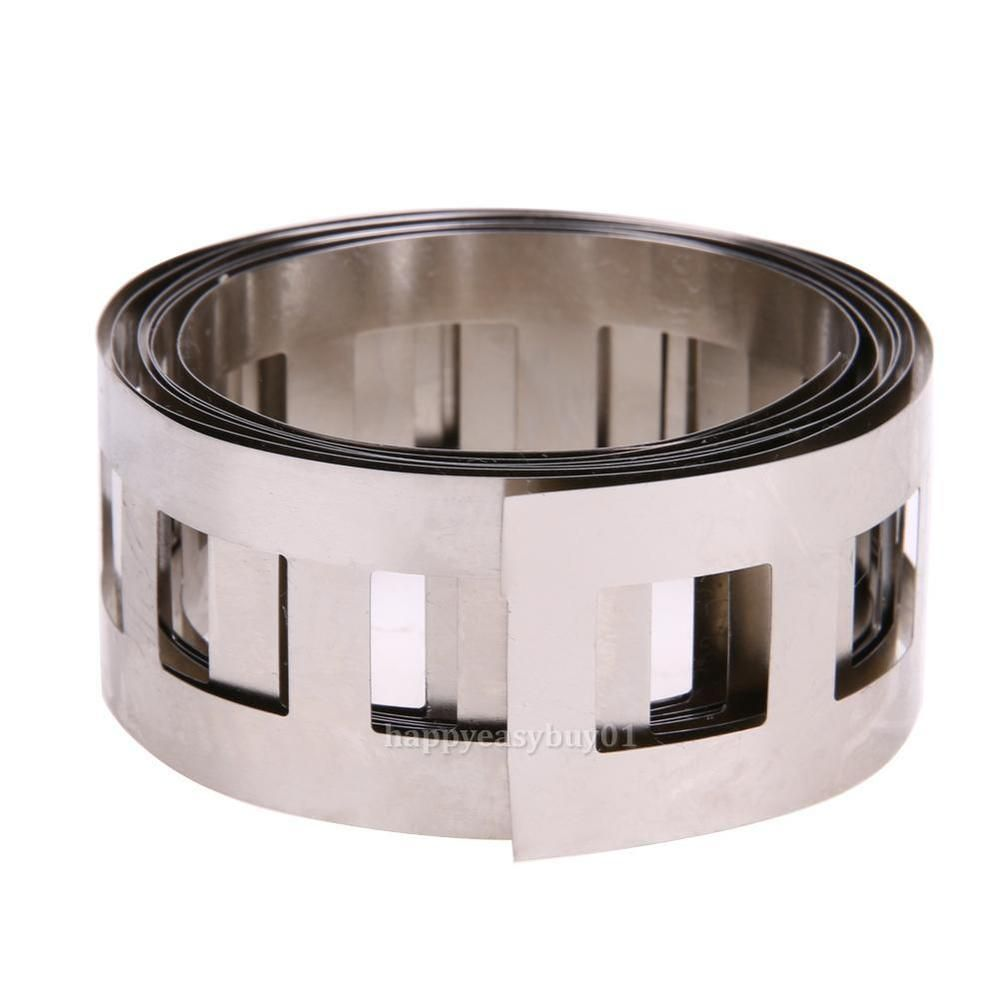 1m 0.15 T Pure Ni Plate Nickel Strip Tape for 18650 Li-Ion Battery Spot Welding