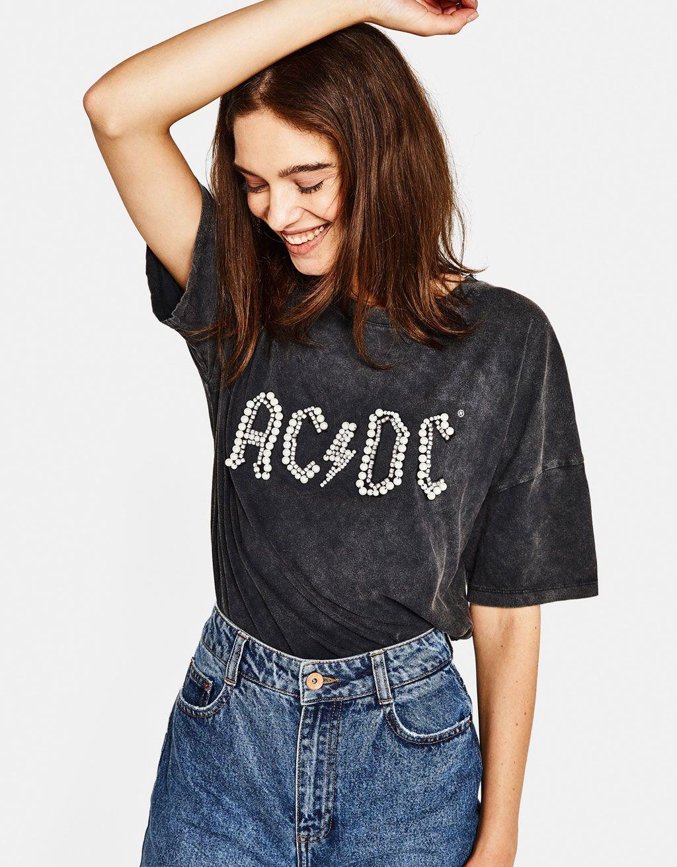 1f9745b6 AC/DC T-shirt - Hello Soho! - Bershka United States   reunited 1 in ...