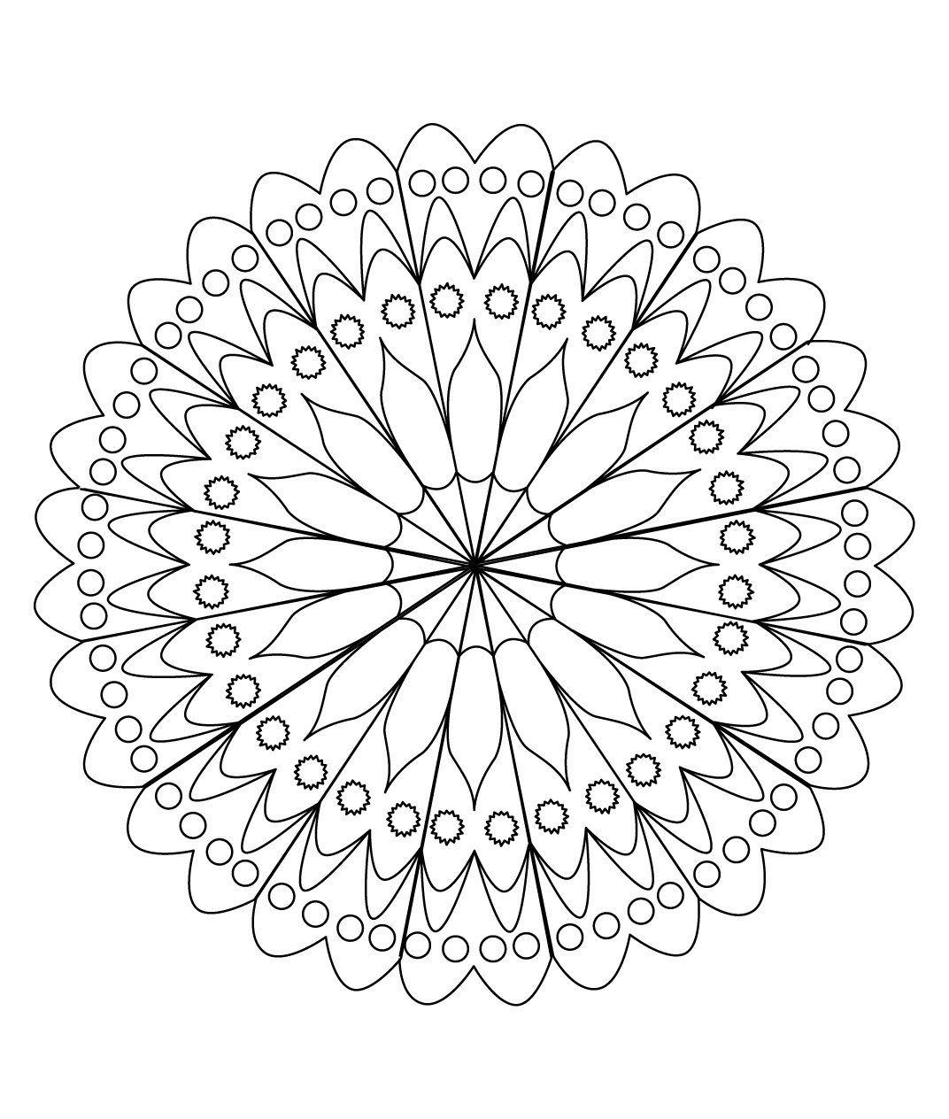 Stci coloriage pour adultes et enfants mandalas mandalas coloring pages pinterest adult - Mandala adulte ...