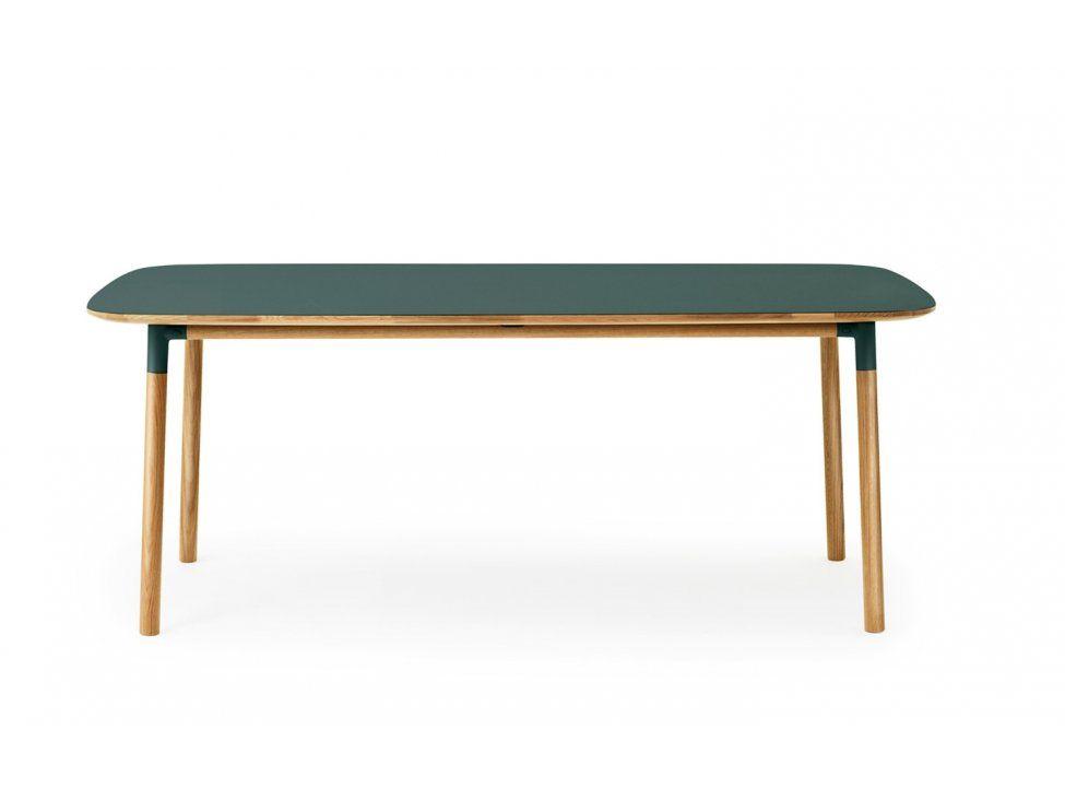 Stół Form 95 x 200 cm zielony — Stoły Normann Copenhagen — sfmeble.pl