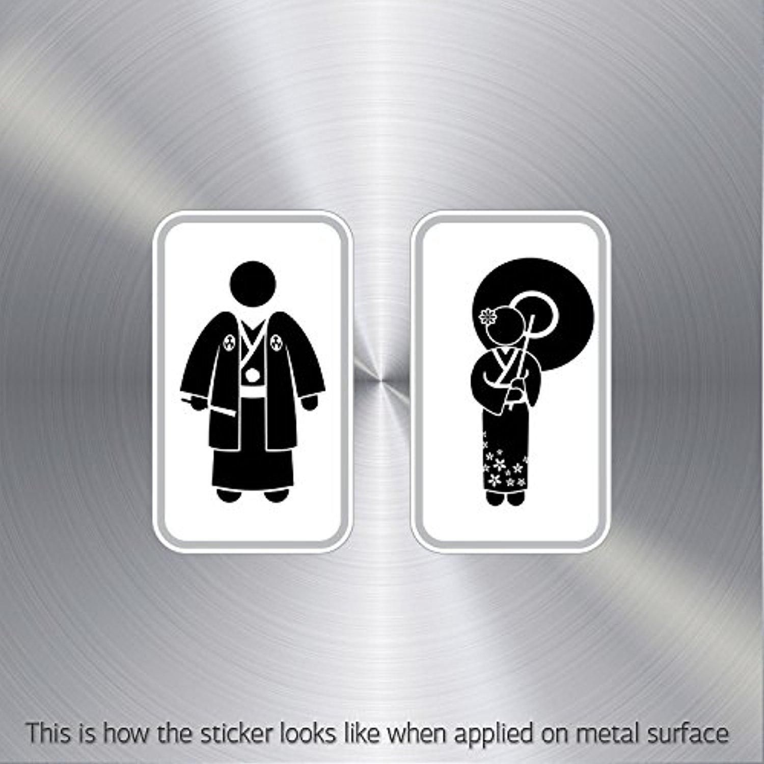 Decal sticker wc restrooms sign japan man woman toilet bathroom lavatory waterproof game brought to you by avarsha com