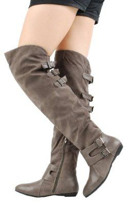 Zoria40 Multi Buckle OTK Boots GRAY