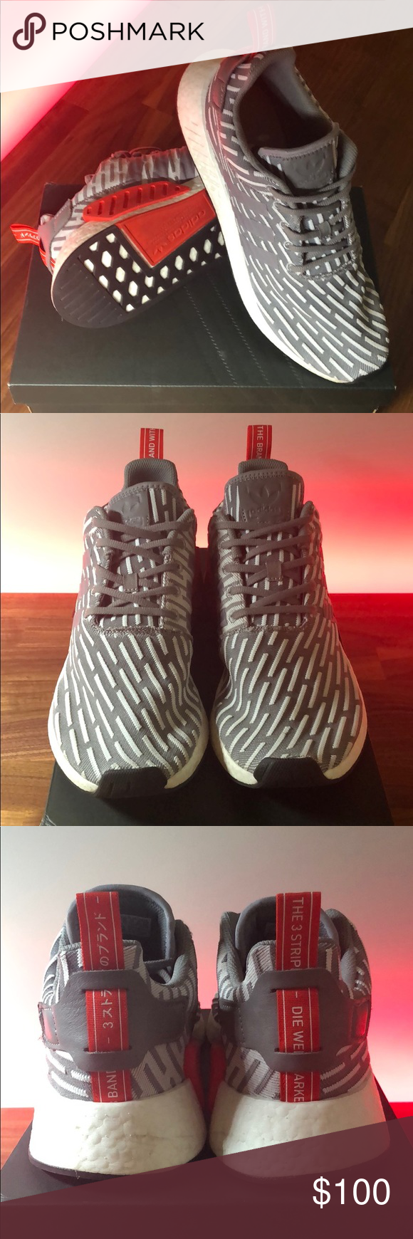 wholesale dealer 2f2a4 29020 Adidas NMD R2 JD Sports Grey Red They are very comfortable ...