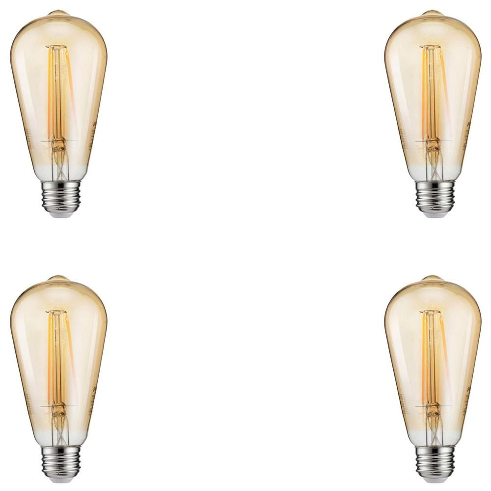 Philips 40w Equivalent Vintage Soft White St19 Dimmable Led Light