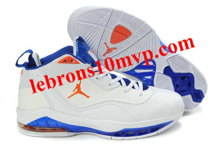 innovative design c758f e10c2 Jordan Melo M8 Carmelo Anthony VIII Shoes White Blue Orange
