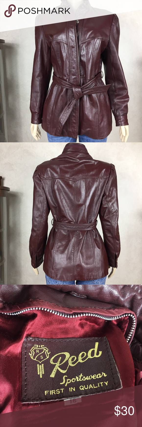 Vintage Reed Red Leather Jacket Leather Jacket Vintage Leather Jacket Red Leather Jacket [ 1740 x 580 Pixel ]