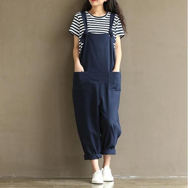 3ed7b5e8dee7 Hippie Casual Cotton Overalls (8 Colors) – KismetCollections