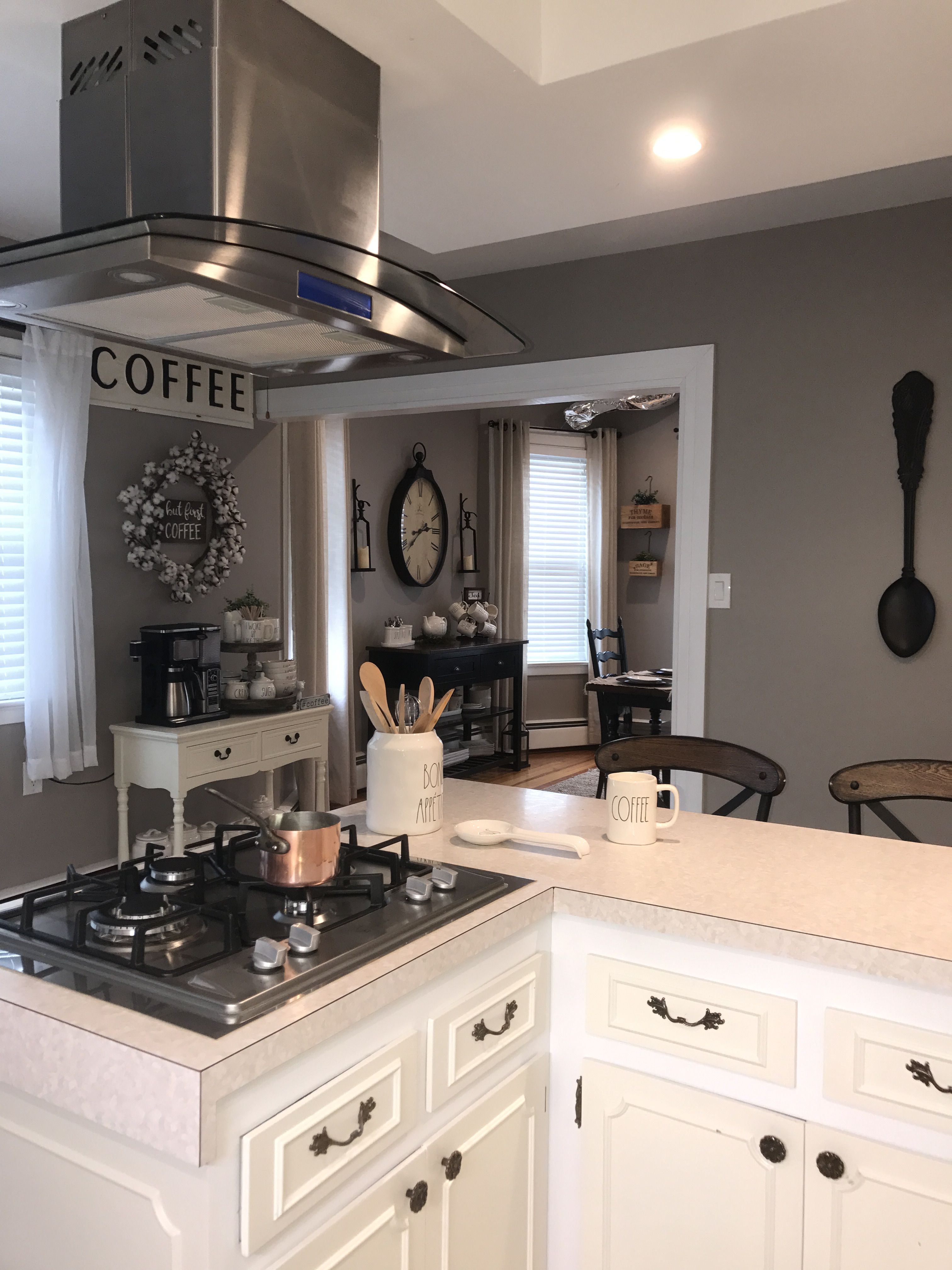 Farmhouse kitchen perfect greige by sherwin williams