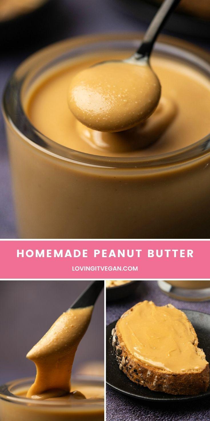 Homemade Peanut Butter In 2020 Homemade Peanut Butter Vegan Comfort Food Vegan Pantry