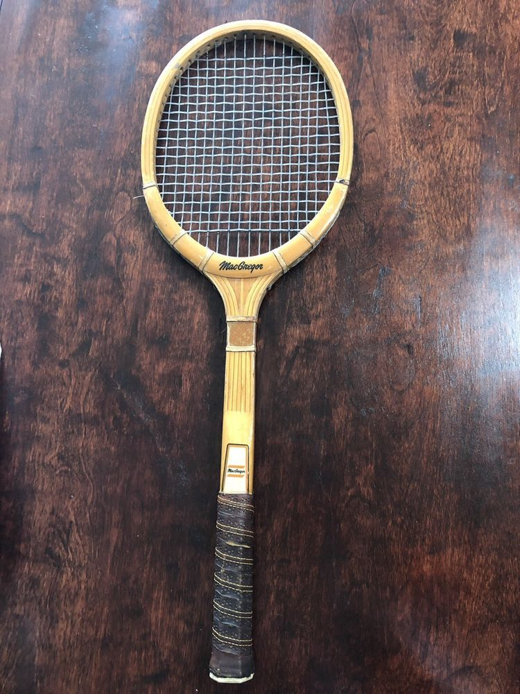 stable quality authentic quality really comfortable Vintage MacGregor Wood Wooden Tennis Racquet Medium 4 5/8 ...