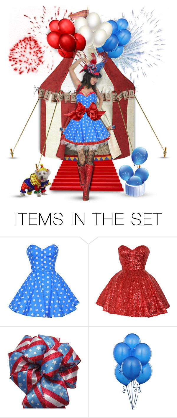 """""""Miss July 4th Circus Doll"""" by helenehrenhofer ❤ liked on Polyvore featuring art"""